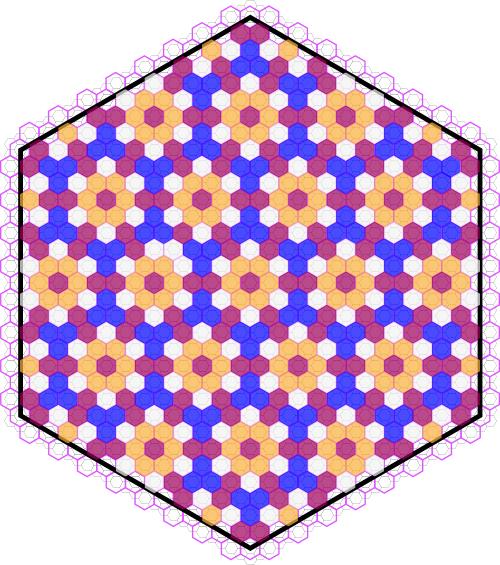 Hexagonal Cross Stitch – Isohedral
